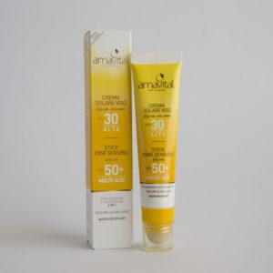 Crema Solare Viso e Stick Zone Sensibili