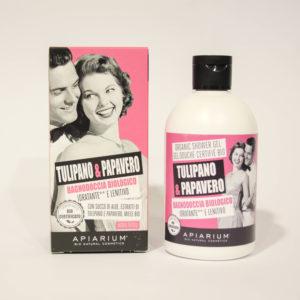 Bagnodoccia Bio Tulipano e Papavero -Linea Apiarium-Bio Natural Cosmetics|Erboristeria Frate Vento