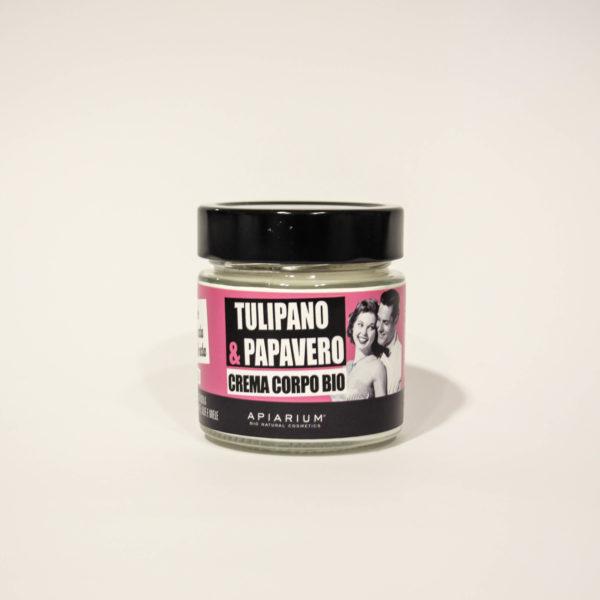Crema Corpo Bio Tulipano e Papavero -Linea Apiarium-Bio Natural Cosmetics|Erboristeria Frate Vento