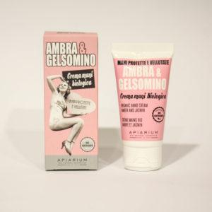 Crema Mani Bio Ambra e Gelsomino - Linea Apiarium-Bio Natural Cosmetics|Erboristeria Frate Vento