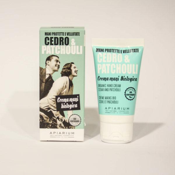 Crema Mani Bio Cedro e Patchouli -Linea Apiarum-Bio Natural Cosmetics|Erboristeria Frate Vento