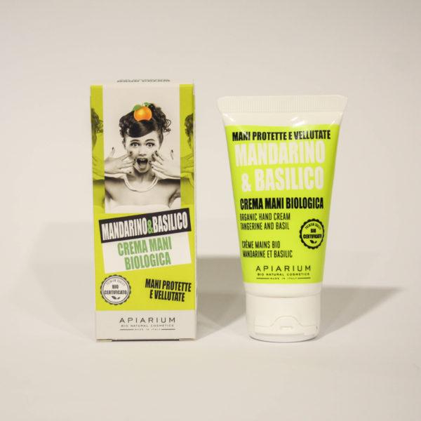Crema Mani Bio Mandarino e Basilico -Linea Apiarum-Bio Natural Cosmetics|Erboristeria Frate Vento