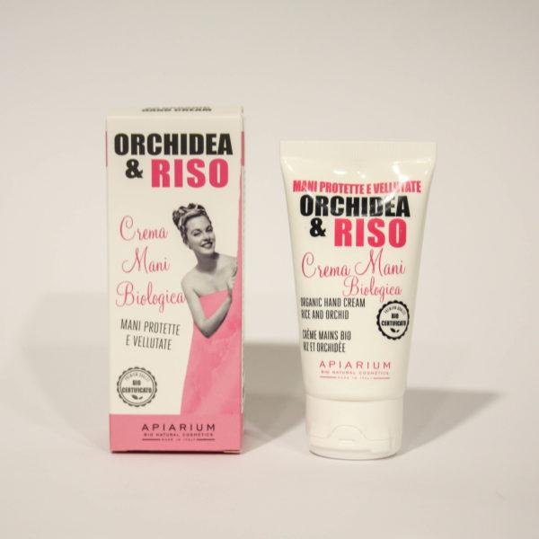 Crema Mani Bio Orchidea e Riso -Linea Apiarium-Bio Natural Cosmetics|Erboristeria Frate Vento
