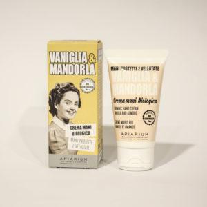 Crema Mani Bio Vaniglia e Mandorla -Linea Apiarium-Bio Natural Cosmetics|Erboristeria Frate Vento