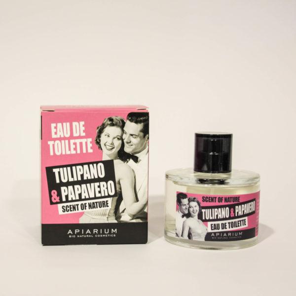 Eau de Toilette Tulipano e Papavero -Linea Apiarium-Bio Natural Cosmetics|Erboristeria Frate Vento