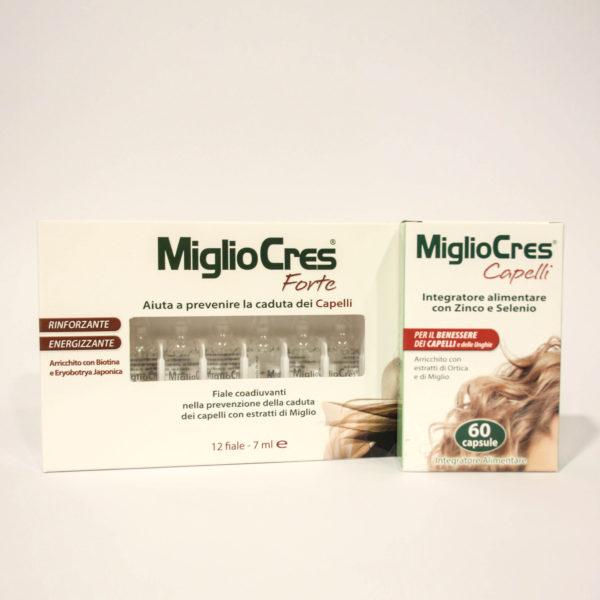 Miglio Cres Integratore Alimentare + Fiale Confezione speciale - Linea MiglioCres Capelli | Erboristeria Frate Vento