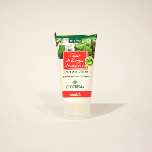 Elisir di lunga Freschezza, Deodorante in Crema con Sandalo - Ardes Cosmetici   Erboristeria Frate Vento