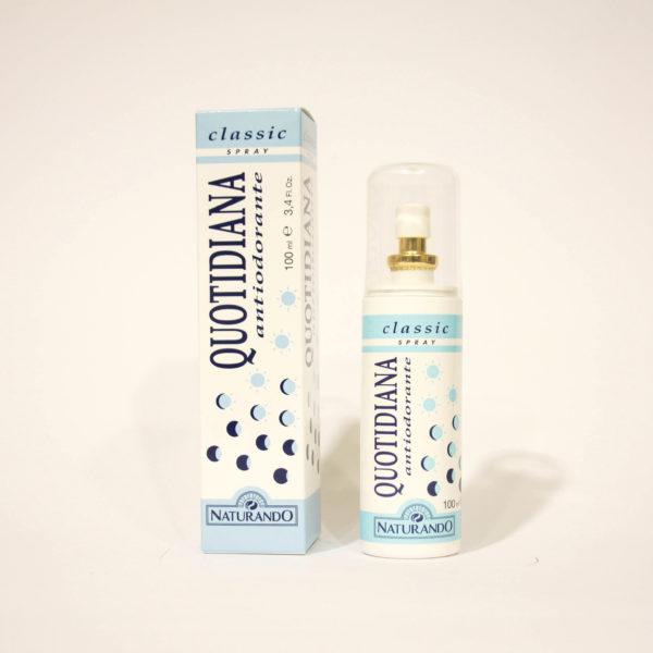 Quotidiana Antiodorante Classic, Spray Pelli normali - Naturando   Erboristeria Frate Vento