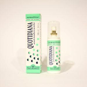 Quotidiana Antiodorante Sensitive, Spray Pelli molto sensibili - Naturando | Erboristeria Frate Vento