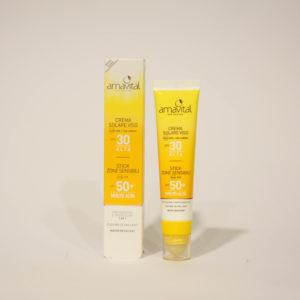 Crema Solare Viso + Stick Zone Sensibili, Confezione 2 in 1 - Amavital | Erboristeria Frate Vento