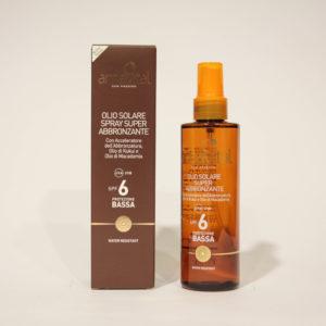 Olio Solare Super Abbronzante, Protezione bassa spf 6 - Amavital | Erboristeria Frate Vento