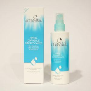 Spray Doposole Rinfrescante, con Aloe Vera, Vitamina E - Amavital | Erboristeria Frate Vento