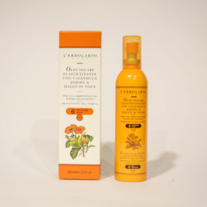 Olio solare elasticizzante, Protezione bassa - L'Erbolario | Erboristeria Frate Vento